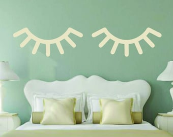 Wooden Eyelashes - Wood Cut Out, Wooden Cut Out, Wood Shapes, Wooden Shapes, Wall Decor, Bedroom Decor