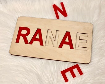 Custom Name Puzzle - Acrylic & Wood, Personalized Puzzle, Custom Name Sign, Personalized Gift, Custom Puzzle, Custom Sign