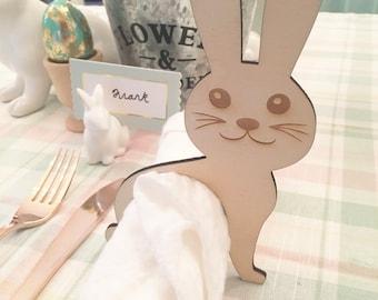 Bunny Napkin Rings, Easter Napkin Rings, Napkin Holder, Napkin Rings, Easter Decor, Easter Table, Bunnies, Decor, Silverware Rings, Napkins