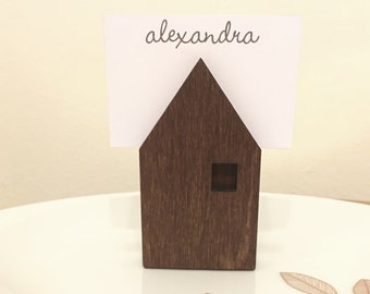 Wooden Houses, Place Card Holders, Print Stands, Little Wooden Houses, Toy Houses, Photo Holders, Decorative Houses, Escort Card Holders