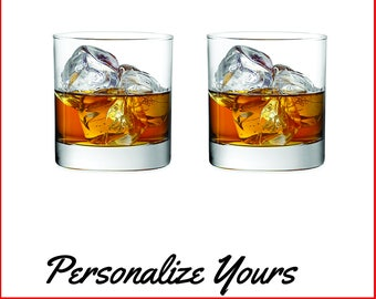Custom Rocks Glasses - Set of 2 - Personalize Yours