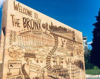 "Large The Bronx Cutting Board - Wooden Cutting Board - 18"" x 12"" x 1 3/4"""