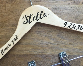 Personalized Kids Flower Girl Hanger
