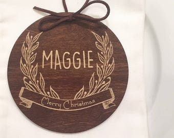 Custom Place Cards Ornaments - Place Cards, Escort Cards, Custom Favors, Seating Chart, Holiday Table, Ornament, Custom Ornament, Christmas