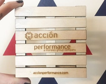 Custom Logo Pallet Coaster - Corporate Event, Favors, Promotional Items, Logo Advertising, Custom Engraved Logo, Bar, Restaurant, Office