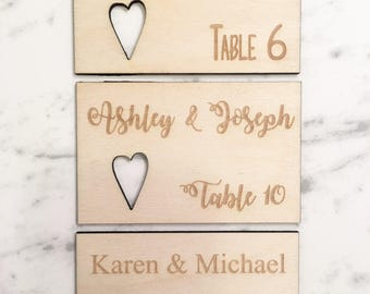 Custom Wooden Escort Cards - Wooden Place Cards, Engraved Escort Cards, Engraved Place Cards, Wedding Escort Cards, Shower Escort Cards