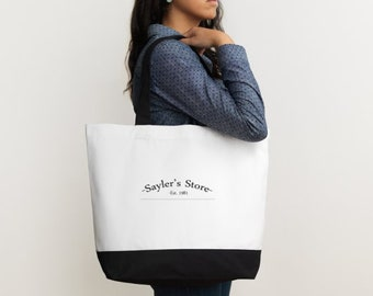Sayler's Store Classic Cotton Tote Bag - Two Tone -