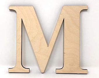 Wooden Letters - Times New Roman Font, Wooden Monogram, Laser Cut