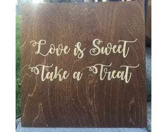 Double Sided Wedding/Home Wooden Sign - Candy Bar Sign, Home Sweet Home Sign, Wedding Sign, Home Decor, Wooden Sign, Custom Engraved