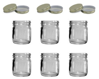 Custom Mini Mason Jar Shot Glasses/Storage Jars - Set of 6 - Personalized Shot Glasses, Custom Shot Glasses, Personalized Mason Jars