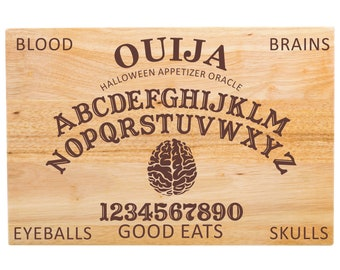 "Large Ouija Cutting Board - Appetizer Board - Halloween - 18"" x 12"" x 1 3/4"""