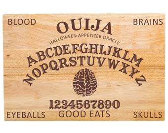 """Large Ouija Cutting Board - Appetizer Board - Halloween - 18"""" x 12"""" x 1 3/4"""""""