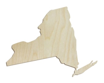 New York Wood Shape - Wood Cut Out, Wooden Cut Out, Wood Shape, Wooden Shapes, Wood Letter, Wooden Letters, State Shapes