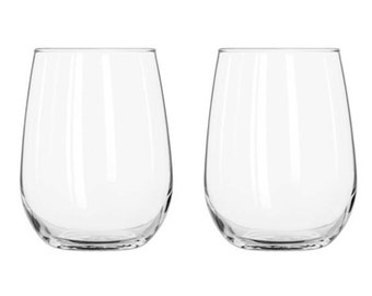 Stemless Wine Glasses - 17 oz. - Set of 2
