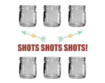 6 - 1.25oz Mini Mason Jar Shot Glasses - Set of 6