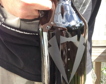 Customized Amber Beer Growler - 64 oz - Laser Engraved, Groom, Groomsmen Gifts, Beer Drinker, Home Brewer, Personalize
