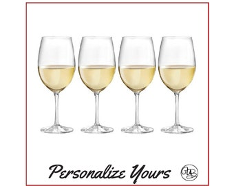Custom Stemmed Wine Glasses - Set of 4 - Personalize Yours