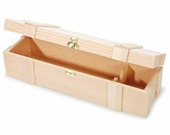 Unfinished Wine Box - Wooden Wine Box, Wine Box, Wood Wine Box, Gifting