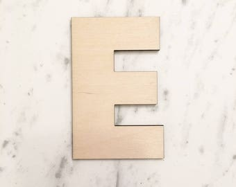 Wooden Letter E - Wood Cut Out, Wooden Cut Out, Wood Shape, Wooden Shapes, Wood Letter, Wooden Letters