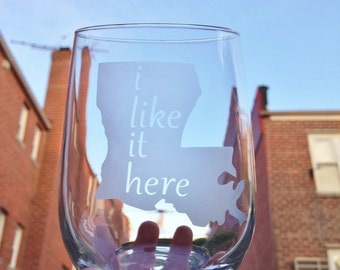 i like it here... Custom State Glassware Set - Set of 2 - United States Love, Rocks Glasses, Mason Jars, Pints