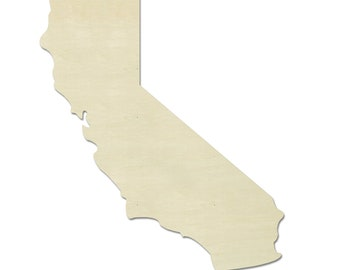 California Wood Shape - Wood Cut Out, Wooden Cut Out, Wood Shape, Wooden Shapes, Wood Letter, Wooden Letters, State Shapes