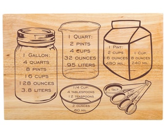 "Large Cutting Board Kitchen Measurements - Appetizer Board - Kitchen Decor - 18"" x 12"" x 1 3/4"""