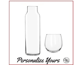 Custom Bedside Carafe - Set of 2 - Personalize Yours