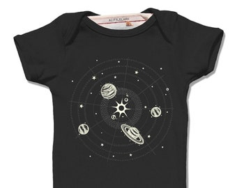 Unisex Baby Clothes, Space Baby Gift, Solar System Onesie, Planets onesie, Science gifts, Baby boy gift, Baby Clothes, Baby Space Bodysuit