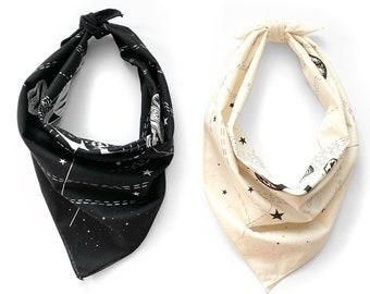 Space Bandana, Solar System bandana, space festival bandana, mens bandana, astronomy space gift for him, space lover gift, space clothing