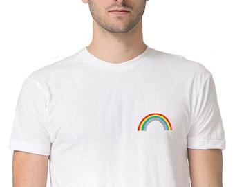 ad5800a37a03 Glitter Rainbow Tee, cute rainbow shirt, Gay Pride Rainbow TShirt, LGBTQ Rainbow  Clothing, LGBT LGBTQ shirt, rainbow flag, gay rainbow shirt