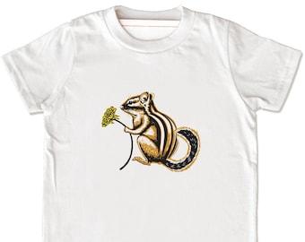 Organic Chipmunk Shirt, Woodland Creatures, Cute Chipmunk T-Shirt, Chipmunk Graphic Tee, Chipmunk Clothing, Chipmunk Lover, Forest Creatures