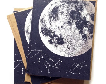 Moon card moon cards single a2 size moon stars greeting etsy moon card blank moon cards love you to the moon box of moon cards a2 size moon greeting cards lunar constellation recycled paper m4hsunfo