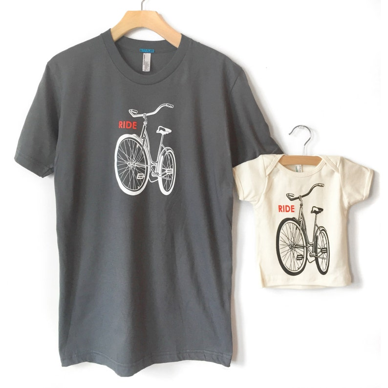 c52101c7 Father Son Matching Shirt Onesie RIDE a Bike Bicycle Shirts | Etsy