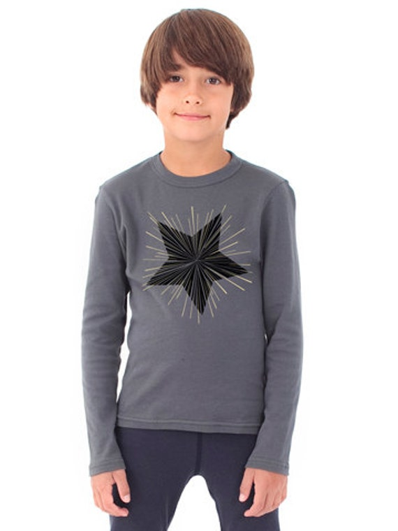 0b0370fadd Gold foil star blackstar shirt David Bowie inspired kids