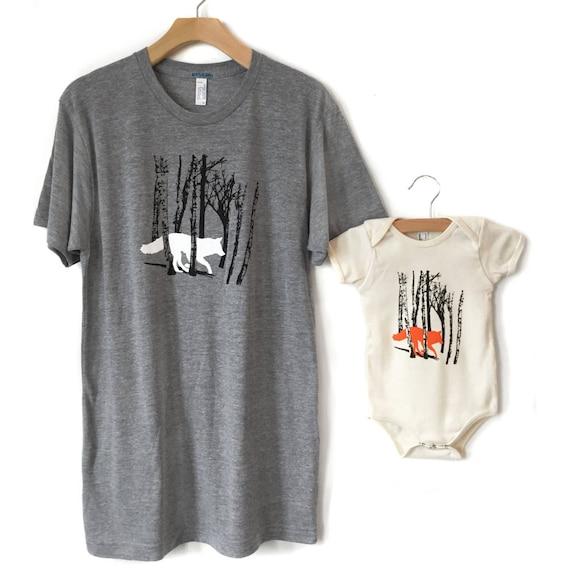 Moeder Kind Bijpassende T Shirts Nieuwe Mom Cadeau Mama En Mij Shirts Fox T Shirt Moeder Zoon Shirts Moeder Dochter Twinning Moeder Moeder