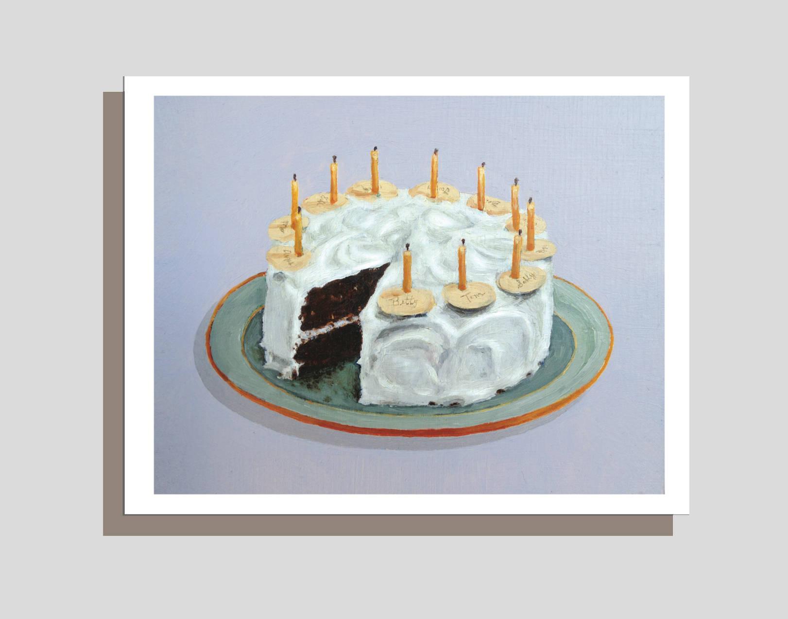 Happy Birthday Cake Card Dessert