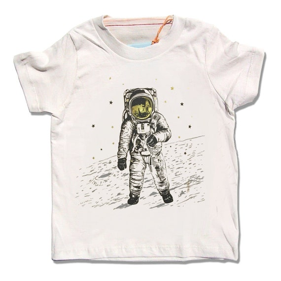 oylp Small Astronauts Cotton T-Shirt for Children
