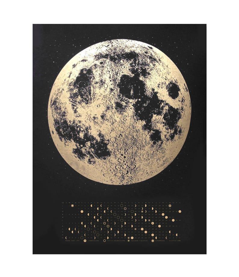 Moon Phase Calendar Moon Calendar 2019 Full Moon Calendar Etsy