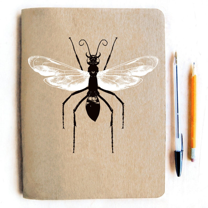 Sale Tarantula Hawk Wasp Sketchbook Blank Notebook Blank Journal Natural Curiosities Wasp Journal Nature Insect Gift Insect Lover
