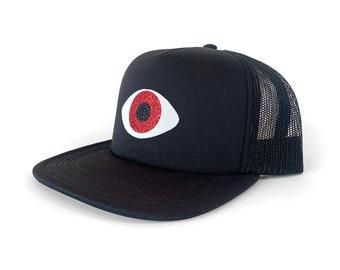 Third Eye Hat, Evil Eye Hat, Woke Eye Hat, Good Karma Hat, Teen Holiday Gift, Adjustable Unisex Trucker Hat