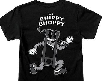Mr. Chippy Choppy T-Shirts-  Cyberpunk Apparel - Wallstreetbets - Eat the Rich - Nerdy Gifts - Faux Vintage - 1930's Tribute