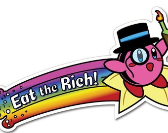 Eat the Rich - Nerdy Gifts - Gamestonks - Laptop Stickers - Anti Capitalism -  Adulting Stickers