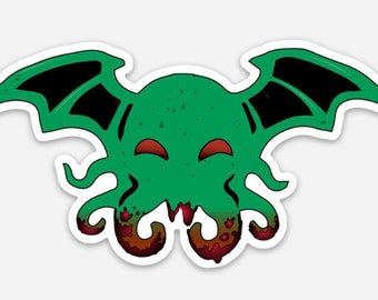 Cutethulu Sticker - Cthulhu Decals Nerdy Spooky Monsters Laptop Stickers Decals