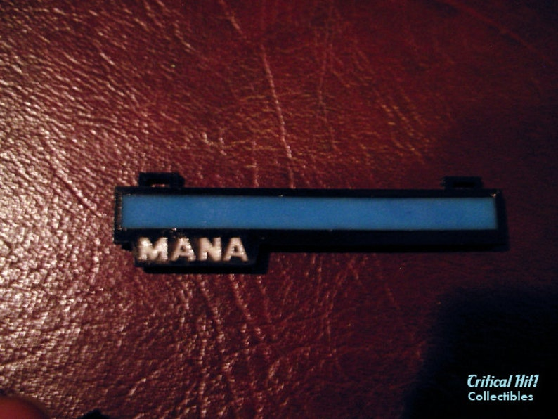 Glowing Mana Bar Necklace / Pin video game jewelry geek image 0