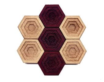 OOPS! ALL VOIDS: Hardwood Magnet Set- Hexagons - Gamer Decor - Nerdy Gifts