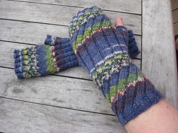 Pdf Knitting Pattern Fingerless Mittens Fingerless Gloves Etsy