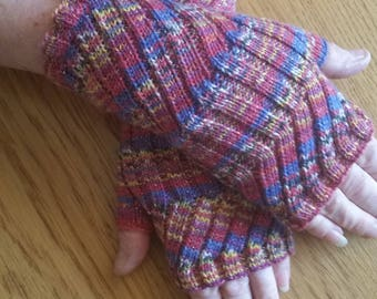 Fingerless Mittens,  Fingerless Gloves,  Hand warmers. Hand Knit