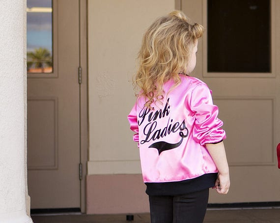 Pink Ladies Retro 50's Grease Inspired Jacket sizes 6/12 mos to size tween 16
