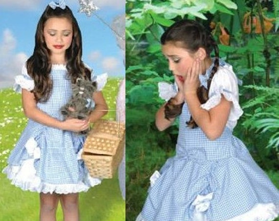 Wizard of Oz Inspired Dorothy Costume Dress for toddlers and girls 2t to size 10 Halloween