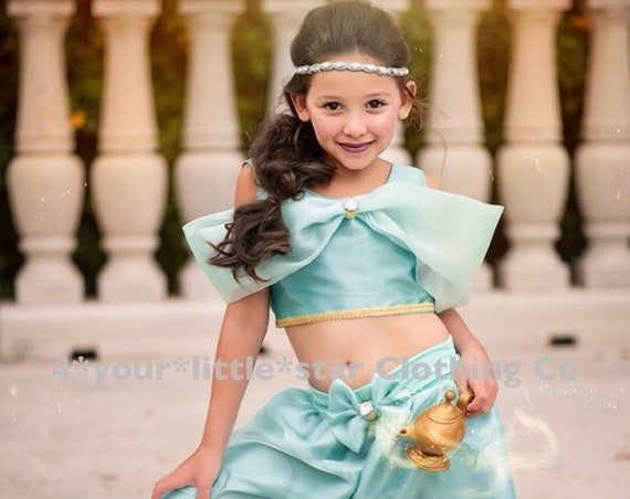 Gorgeous Inspired Jasmine over the Top Outfit for Infants, Toddlers, Girls Sizes 12 mos to Girls size 10 Genie Alladin